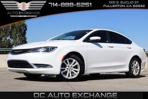 2015 Chrysler 200 for sale in Fullerton, CA