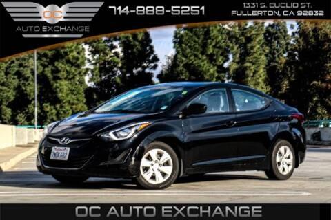 2016 Hyundai Elantra for sale at OC AUTO EXCHANGE in Fullerton CA