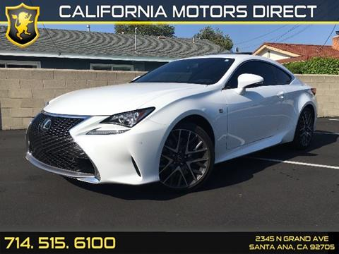 2017 Lexus RC 200t for sale in Santa Ana, CA