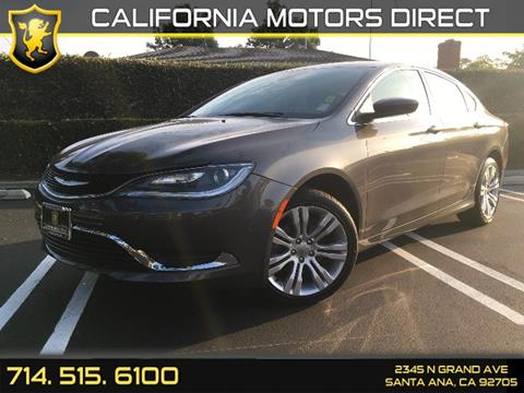 2015 Chrysler 200 for sale in Santa Ana, CA