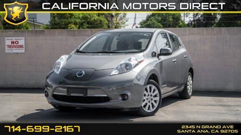 2016 Nissan LEAF for sale in Santa Ana, CA