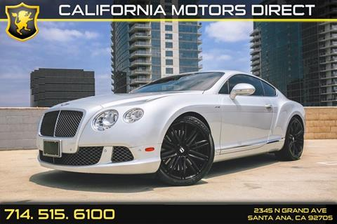 2013 Bentley Continental GT Speed for sale in Santa Ana, CA