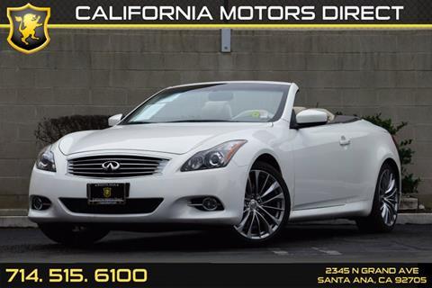 2013 Infiniti G37 Convertible for sale in Santa Ana, CA