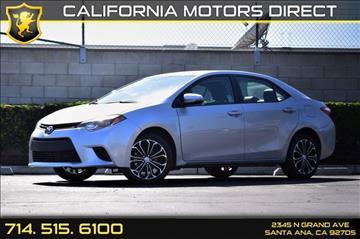 2016 Toyota Corolla for sale in Santa Ana, CA