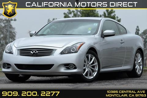 2014 Infiniti Q60 Coupe for sale in Montclair, CA