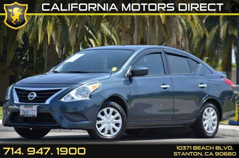 2015 Nissan Versa for sale in Stanton, CA
