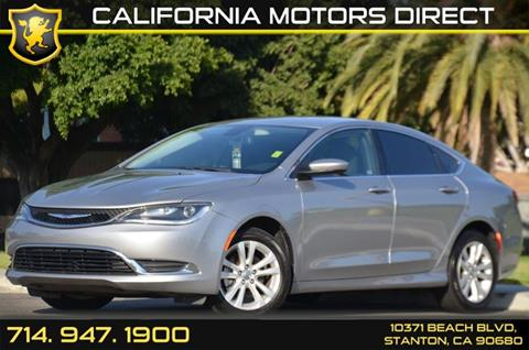 2015 Chrysler 200 for sale in Stanton, CA