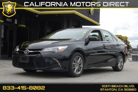 2015 Toyota Camry XLE for sale at CALIFORNIA MOTORS DIRECT in Stanton CA