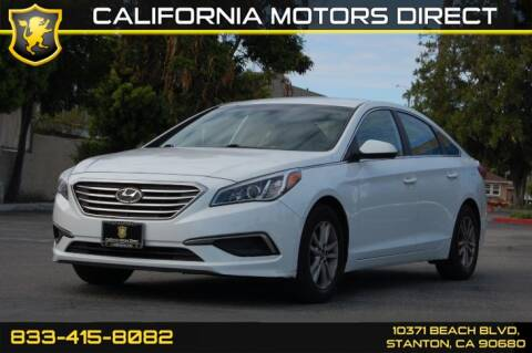 2016 Hyundai Sonata for sale at CALIFORNIA MOTORS DIRECT in Stanton CA