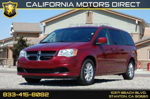 2016 Dodge Grand Caravan SXT for sale at CALIFORNIA MOTORS DIRECT in Stanton CA