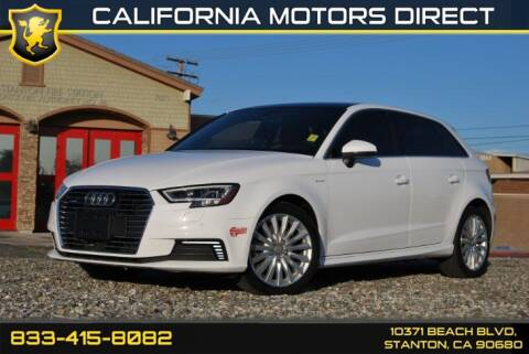 2017 Audi A3 Sportback e-tron 1.4T Premium Plus for sale at CALIFORNIA MOTORS DIRECT in Stanton CA