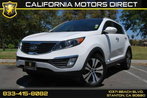 2013 Kia Sportage EX for sale at CALIFORNIA MOTORS DIRECT in Stanton CA