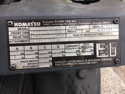 2007 Komatsu FG32SHT-16