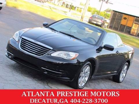 2011 Chrysler 200 Convertible for sale at Atlanta Prestige Motors in Decatur GA