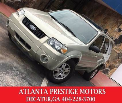 2005 Ford Escape for sale at Atlanta Prestige Motors in Decatur GA