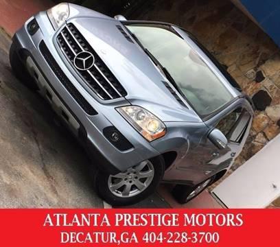 2007 Mercedes-Benz M-Class for sale at Atlanta Prestige Motors in Decatur GA