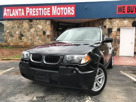 2004 BMW X3 for sale at Atlanta Prestige Motors in Decatur GA