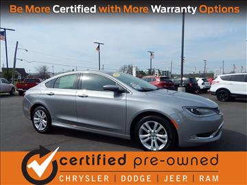 2016 Chrysler 200 for sale in Richmond, IN
