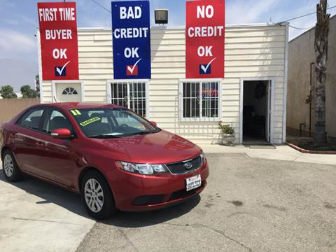 2010 Kia Forte for sale at CALIFORNIA AUTO FINANCE GROUP in Fontana CA
