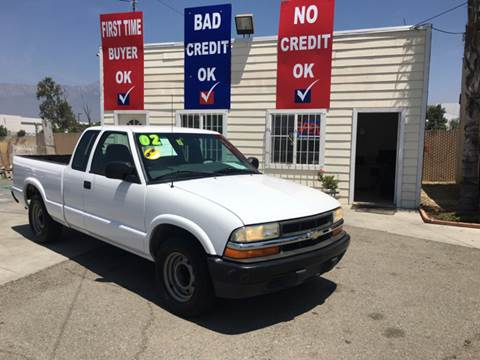 2002 Chevrolet S-10 for sale at CALIFORNIA AUTO FINANCE GROUP in Fontana CA