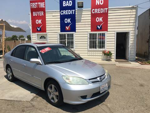 2004 Honda Civic for sale at CALIFORNIA AUTO FINANCE GROUP in Fontana CA