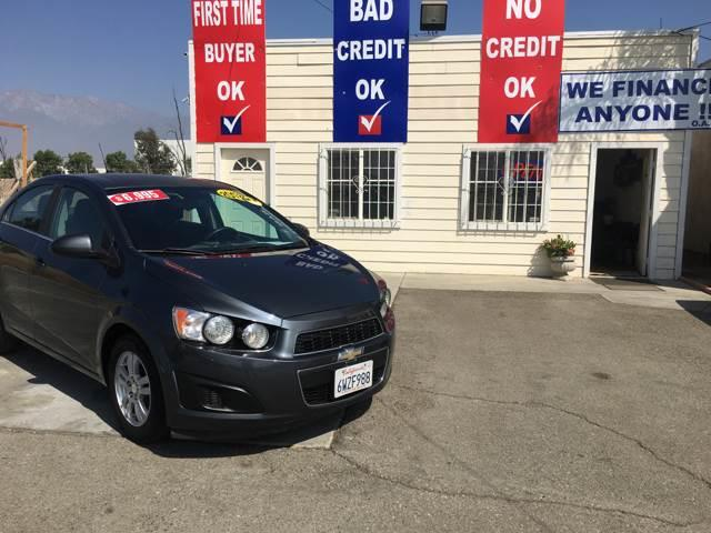 2012 Chevrolet Sonic for sale at CALIFORNIA AUTO FINANCE GROUP in Fontana CA