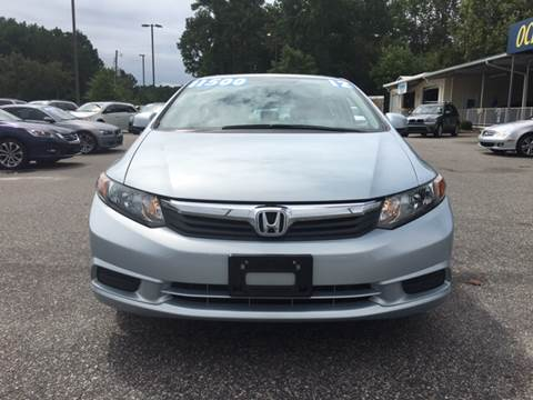 2012 Honda Civic for sale at Oceanside Motor Company in Wilmington NC