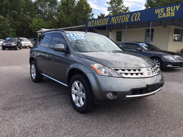 2007 Nissan Murano for sale at Oceanside Motor Company in Wilmington NC