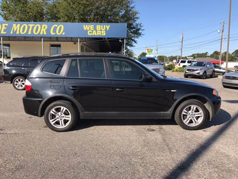 2006 BMW X3 for sale at Oceanside Motor Company in Wilmington NC