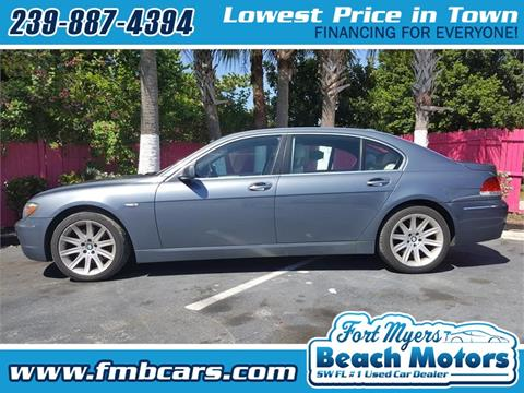 2006 BMW 7 Series for sale in Fort Myers FL
