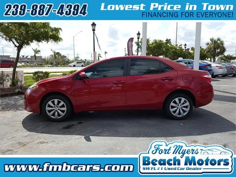 2014 Toyota Corolla for sale in Fort Myers FL