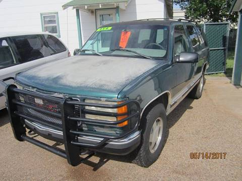 1996 GMC Yukon for sale at W & W MOTORS in Clovis NM