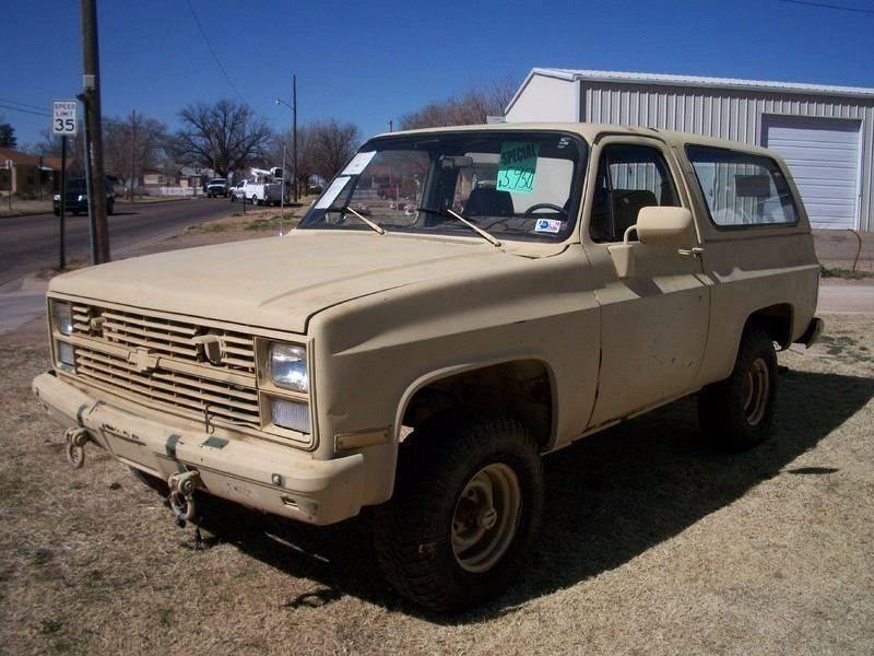 1984 Chevrolet Blazer for sale at W & W MOTORS in Clovis NM