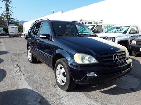 2002 Mercedes-Benz M-Class for sale at Goleta Motors in Goleta CA