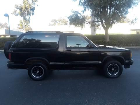 1989 Chevrolet S-10 Blazer for sale at Goleta Motors in Goleta CA