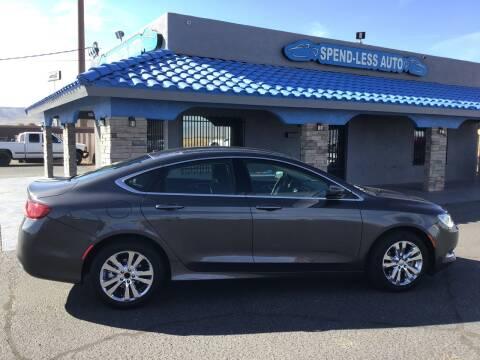 2016 Chrysler 200 for sale at SPEND-LESS AUTO in Kingman AZ