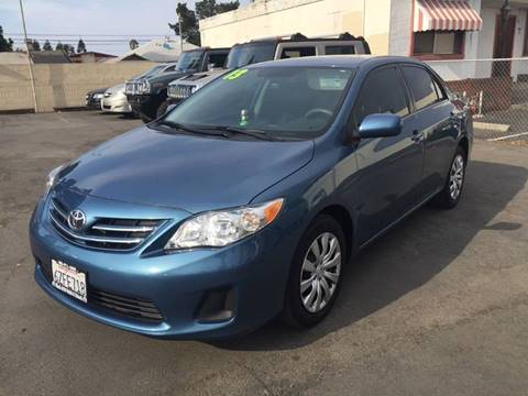 2013 Toyota Corolla for sale at H & K Auto Sales & Leasing in San Jose CA