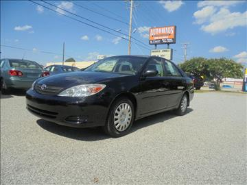 2002 Toyota Camry for sale at Autohaus of Greensboro in Greensboro NC