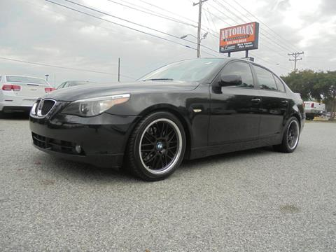 2006 BMW 5 Series for sale at Autohaus of Greensboro in Greensboro NC