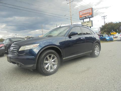 2007 Infiniti FX35 for sale at Autohaus of Greensboro in Greensboro NC