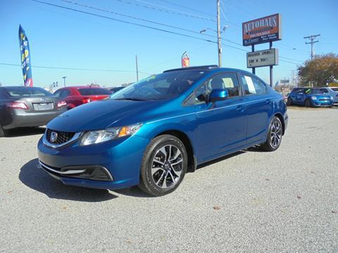 2013 Honda Civic for sale at Autohaus of Greensboro in Greensboro NC