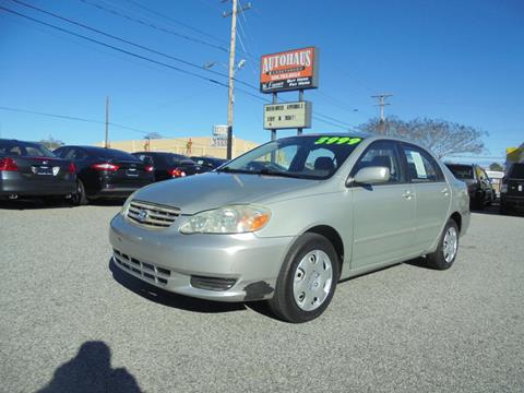 2003 Toyota Corolla for sale at Autohaus of Greensboro in Greensboro NC