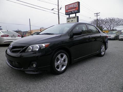 2012 Toyota Corolla for sale at Autohaus of Greensboro in Greensboro NC