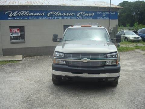 2003 Chevrolet Silverado 3500 for sale at WILLIAMS CLASSIC CARS in Ocala FL