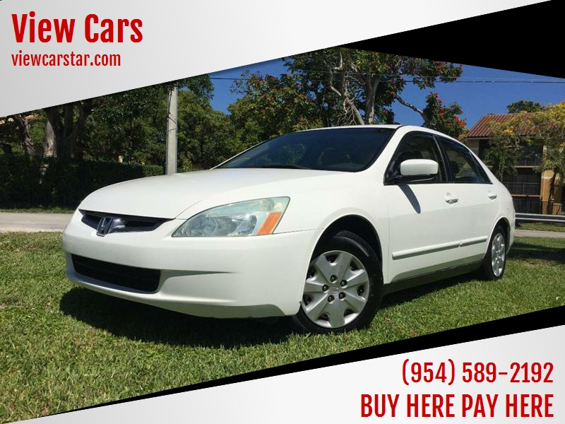 2004 Honda Accord For Sale At View Cars In Hollywood FL