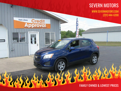 2016 Chevrolet Trax for sale at Severn Motors in Cadillac MI