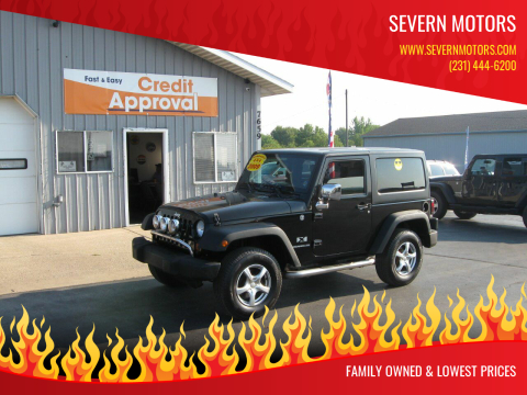 2009 Jeep Wrangler for sale at Severn Motors in Cadillac MI