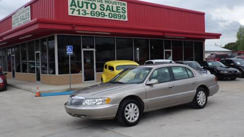 1999 Lincoln Continental for sale in Houston, TX