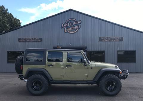 2013 Jeep Wrangler Unlimited for sale at Lost Cause Customs in Poplar Bluff MO