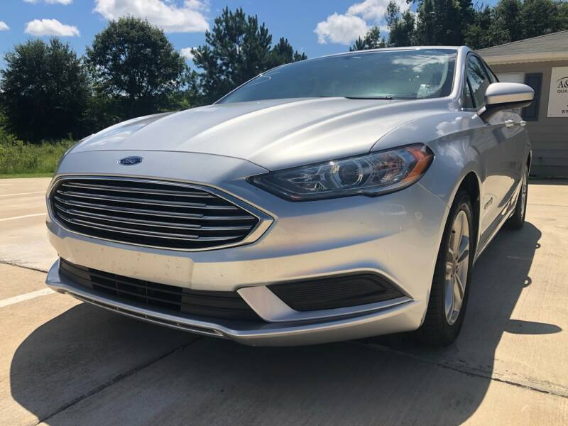 2018 Ford Fusion Hybrid for sale at A&C Auto Sales in Moody AL